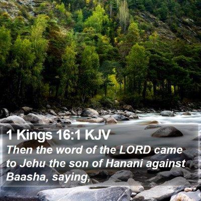 1 Kings 16:1 KJV Bible Verse Image