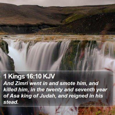 1 Kings 16:10 KJV Bible Verse Image