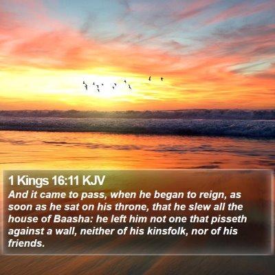 1 Kings 16:11 KJV Bible Verse Image