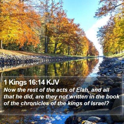 1 Kings 16:14 KJV Bible Verse Image