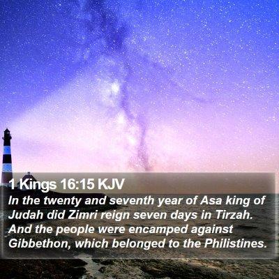 1 Kings 16:15 KJV Bible Verse Image