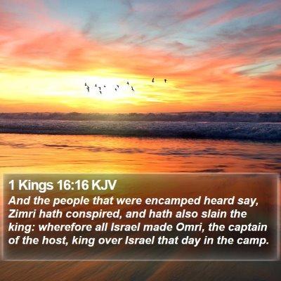 1 Kings 16:16 KJV Bible Verse Image