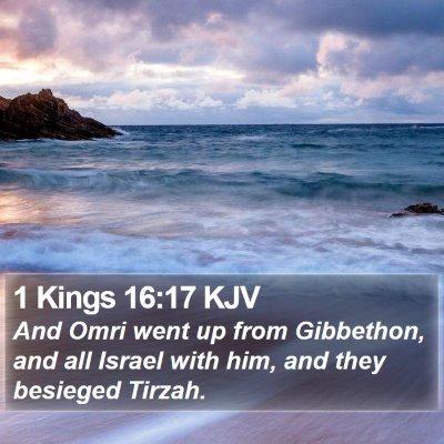 1 Kings 16:17 KJV Bible Verse Image