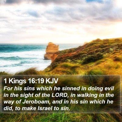 1 Kings 16:19 KJV Bible Verse Image
