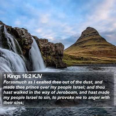 1 Kings 16:2 KJV Bible Verse Image