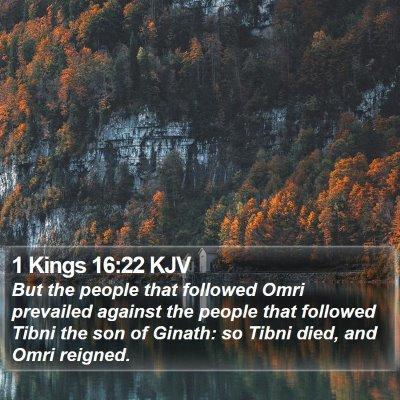 1 Kings 16:22 KJV Bible Verse Image
