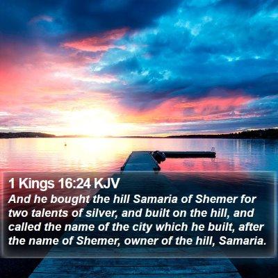 1 Kings 16:24 KJV Bible Verse Image