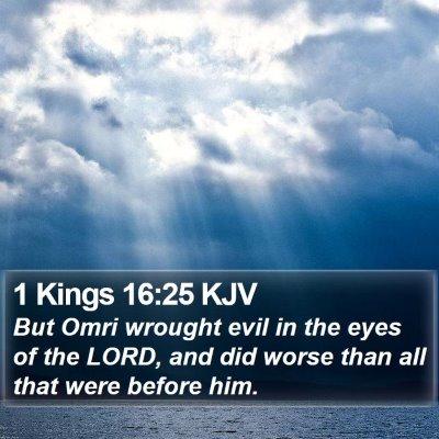 1 Kings 16:25 KJV Bible Verse Image
