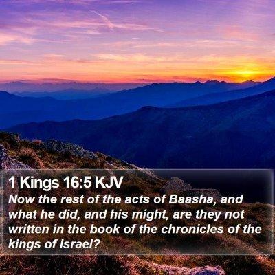1 Kings 16:5 KJV Bible Verse Image