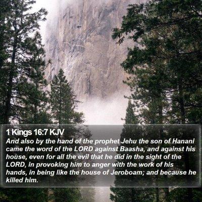 1 Kings 16:7 KJV Bible Verse Image