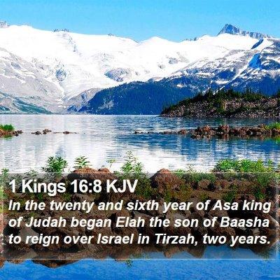 1 Kings 16:8 KJV Bible Verse Image