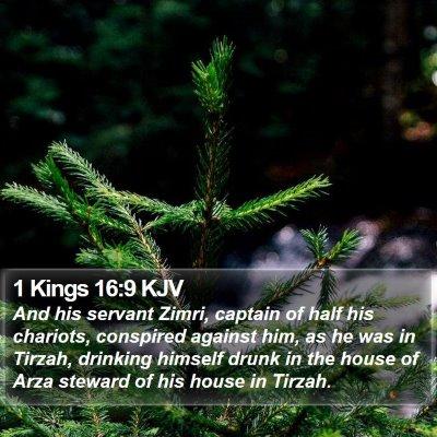 1 Kings 16:9 KJV Bible Verse Image