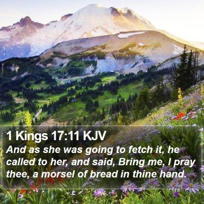 1 Kings 17:11 KJV Bible Verse Image