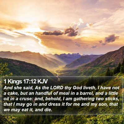 1 Kings 17:12 KJV Bible Verse Image