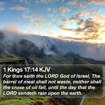 1 Kings 17:14 KJV Bible Verse Image