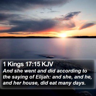 1 Kings 17:15 KJV Bible Verse Image