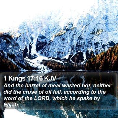 1 Kings 17:16 KJV Bible Verse Image