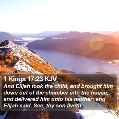1 Kings 17:23 KJV Bible Verse Image