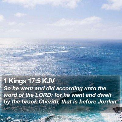 1 Kings 17:5 KJV Bible Verse Image