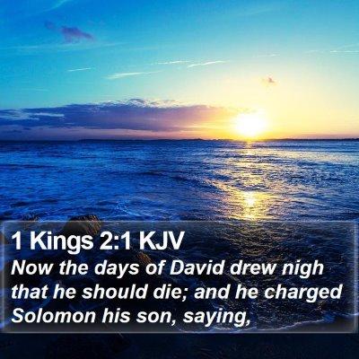 1 Kings 2:1 KJV Bible Verse Image