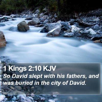 1 Kings 2:10 KJV Bible Verse Image