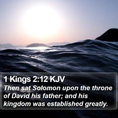 1 Kings 2:12 KJV Bible Verse Image