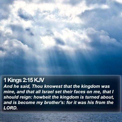 1 Kings 2:15 KJV Bible Verse Image