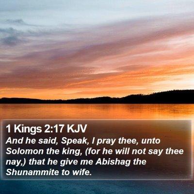 1 Kings 2:17 KJV Bible Verse Image