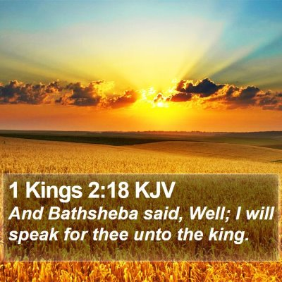 1 Kings 2:18 KJV Bible Verse Image