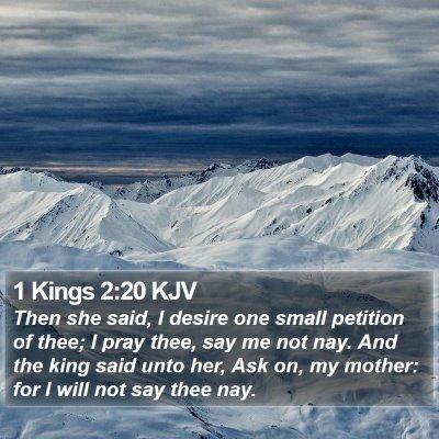 1 Kings 2:20 KJV Bible Verse Image