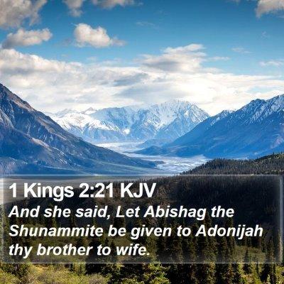 1 Kings 2:21 KJV Bible Verse Image