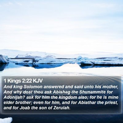 1 Kings 2:22 KJV Bible Verse Image