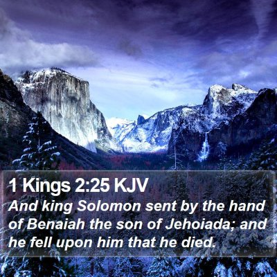 1 Kings 2:25 KJV Bible Verse Image