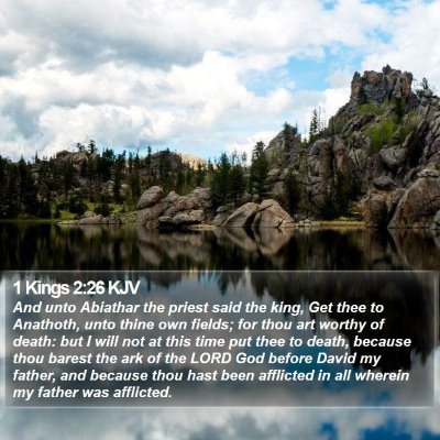 1 Kings 2:26 KJV Bible Verse Image