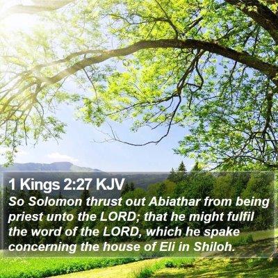1 Kings 2:27 KJV Bible Verse Image