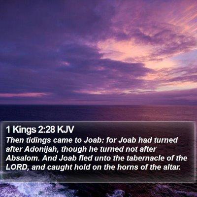 1 Kings 2:28 KJV Bible Verse Image