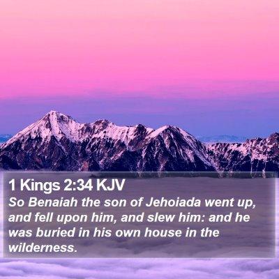 1 Kings 2:34 KJV Bible Verse Image