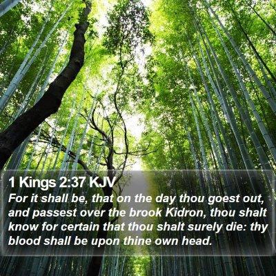 1 Kings 2:37 KJV Bible Verse Image