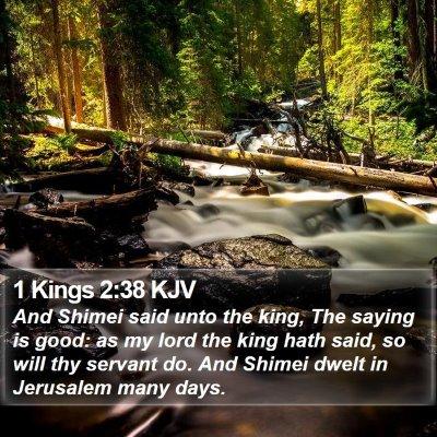 1 Kings 2:38 KJV Bible Verse Image