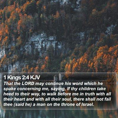 1 Kings 2:4 KJV Bible Verse Image