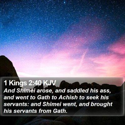 1 Kings 2:40 KJV Bible Verse Image