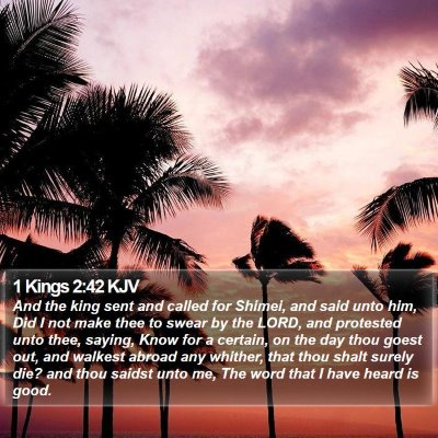 1 Kings 2:42 KJV Bible Verse Image