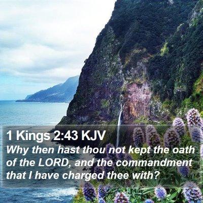 1 Kings 2:43 KJV Bible Verse Image