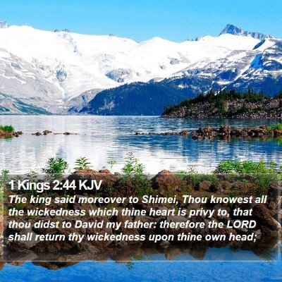 1 Kings 2:44 KJV Bible Verse Image
