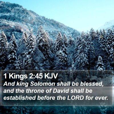 1 Kings 2:45 KJV Bible Verse Image