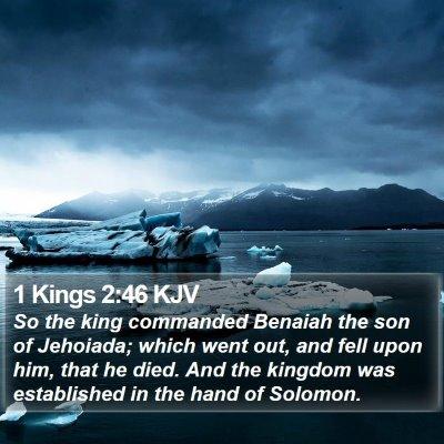 1 Kings 2:46 KJV Bible Verse Image