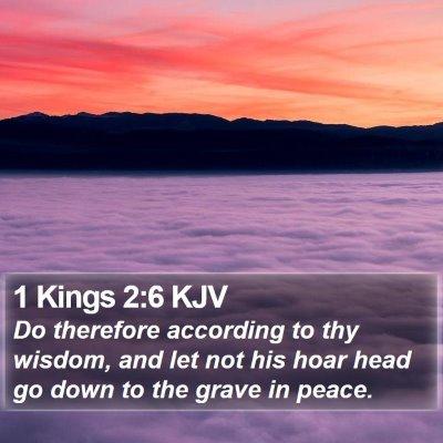 1 Kings 2:6 KJV Bible Verse Image