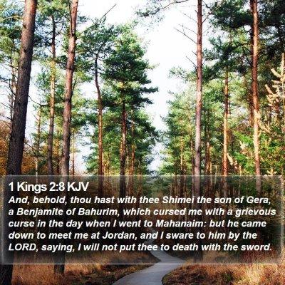 1 Kings 2:8 KJV Bible Verse Image