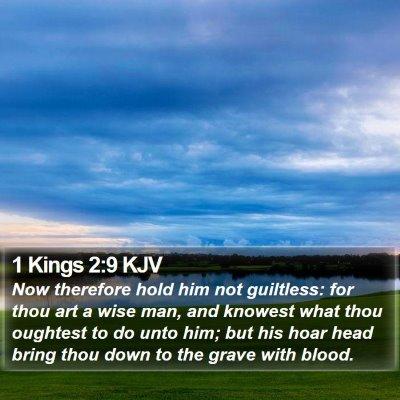 1 Kings 2:9 KJV Bible Verse Image