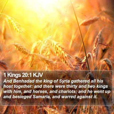 1 Kings 20:1 KJV Bible Verse Image